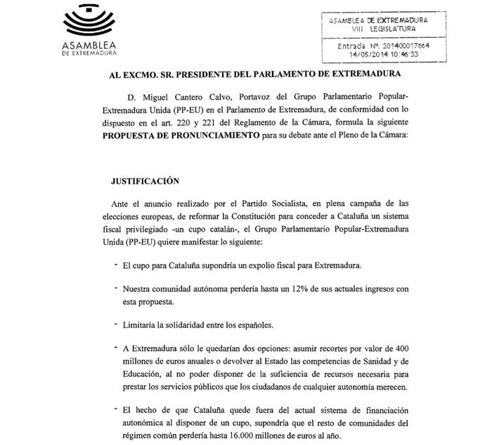 Comunicat Asamblea de Extremadura